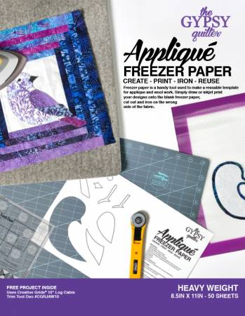 Applique Freezer Paper 8 1/2in x 11in Heavy Weight 50ct