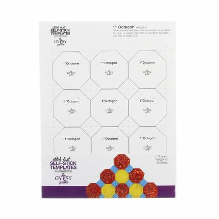 Stitch Fast Self-Stick Template 1 in Octagon