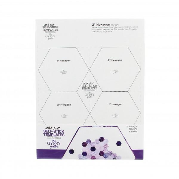 Stitch Fast Self-Stick Template 2 in Hexagon
