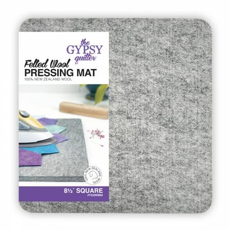 Wool Pressing Mat 8-1/2in x 8-1/2in x 1/2in Thick