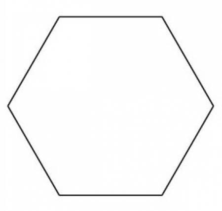 1in Hexagon Template