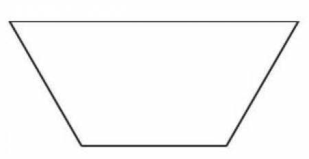 2in Half Hexagon Template