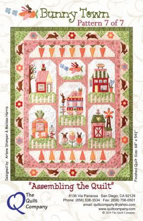 Bunny Town Block 7 - Assembling the Quilt