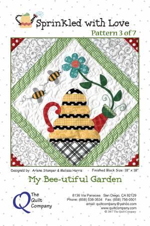 Sprinkled with Love Block 3 My Bee-utiful Garden