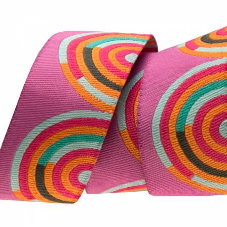 7/8 Orange /Pink Hypnotizer - Tula Pink / Renaissance Ribbon