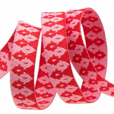 3/8 Hot Pink / Pink Wanderer / Renaissance Ribbon