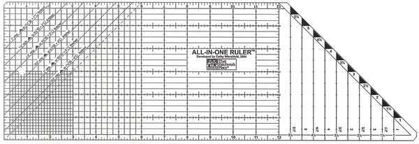 All in-one Ruler (New larger size) Size 6in x 18in