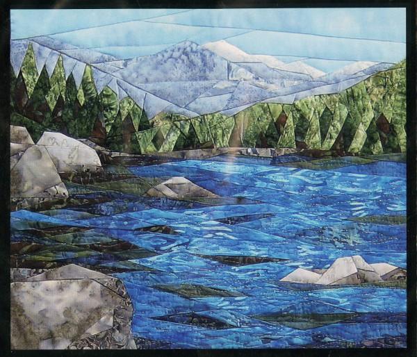 Tranquil Lake- pattern freezer paper