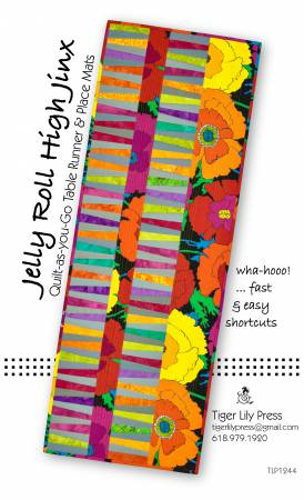 Jelly Roll High Jinx Quilt-As-you-Go Table Runner & Place Mats