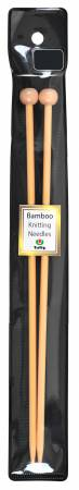 Bamboo Knitting Needles 10in 25Cm No 9 5.50mm