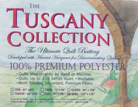 Batting Tuscany Polyester 120in x 120in King