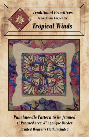 (P35) Tropical Winds Punchneedle
