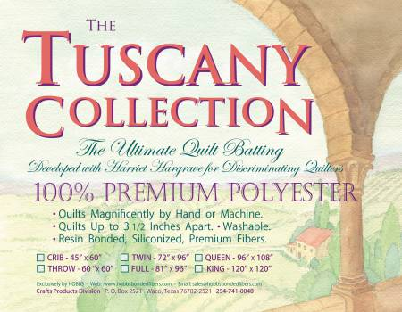 Batting Tuscany Polyester 45in x 60in Crib