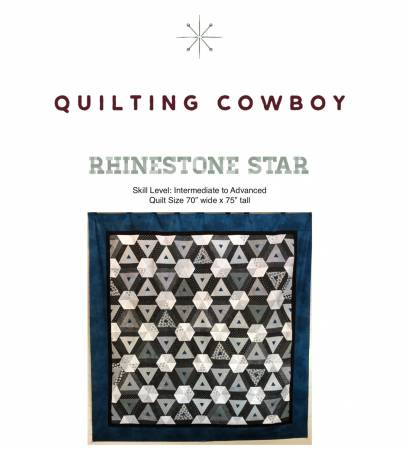 Rhinestone Star Quilt Pattern by The Quilting Cowboy