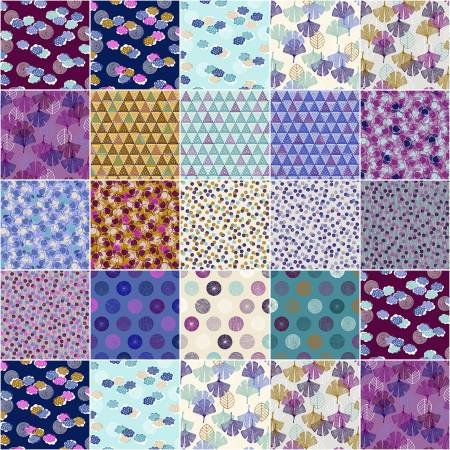 5in Squares Happy Day, 42pcs, 4 bundles/pack