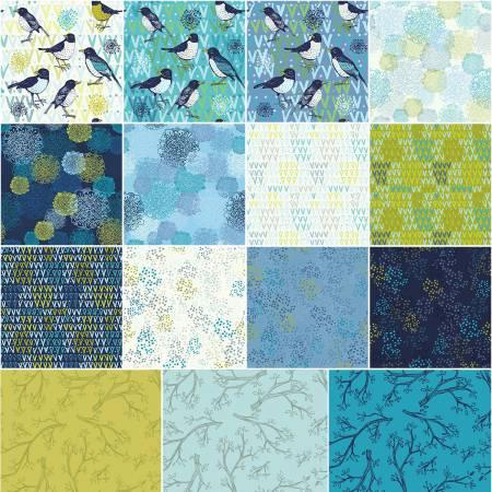 Spring Robins-10in Squares-42pcs/bundle