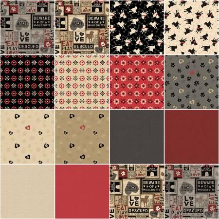 10in Squares Wigglebutts, 42pcs, 4 bundles per pack