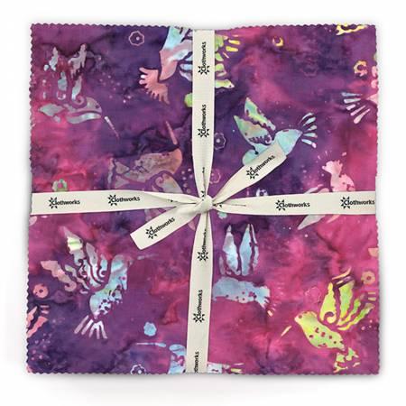 10in Squares Flying Colors Batik, 42pcs, 4 bundles per pack