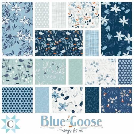 10in Squares Blue Goose, 40pcs