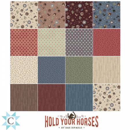 Hold Your Horses, 10 inch Squares, 40pcs Layer Cake