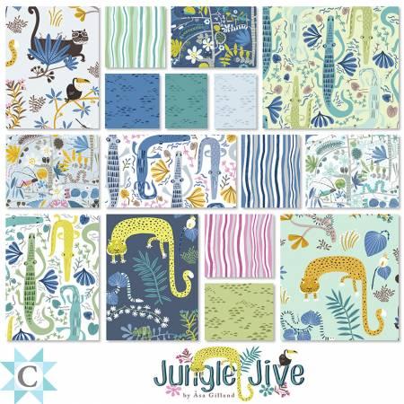 10in Squares Jungle Jive, 42pcs