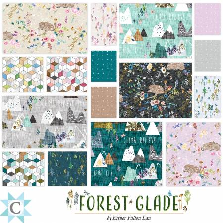 10in Squares Forest Glade, 42pcs