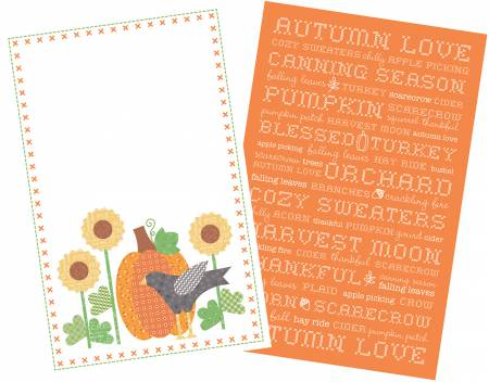 Lori Holt Autumn Love Tea Towels 2pk