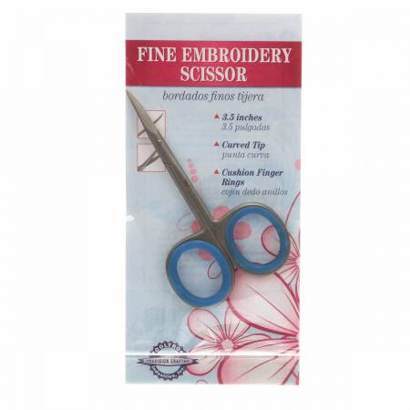 Fine Embroidery Scissor with Curved Tip 3 1/2 TT00104