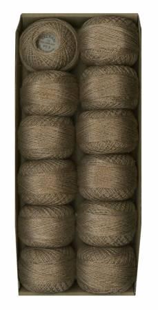 Valdani Pearl Cotton Ball Sz12 109yd Twisted Tweed Beige by J Paton