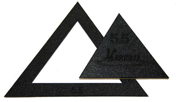 2-1/2in-5-1/2in Small Set Triangle Templates