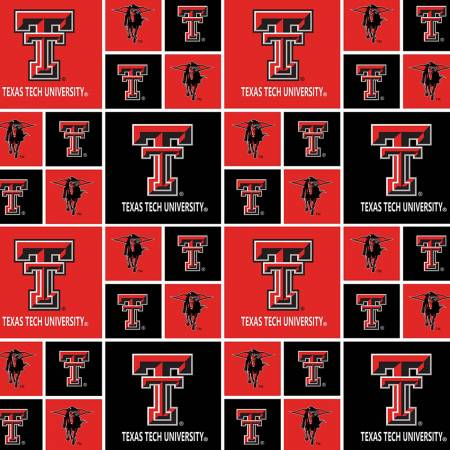Texas Tech University Patchwork Licensed Fat Quarter