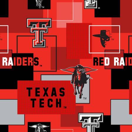 Texas Tech University Block Print Cotton