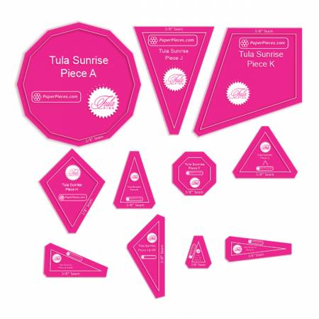 Acrylic Template Set/Sunrise (Tula Pink) 11 pcs