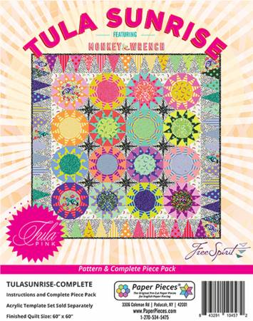 EPP - Tula Sunrise Complete Pattern and Paper Piece Pack