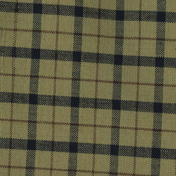 Tea Towel - Tea Dyed with Navy and Burgundy Plaid