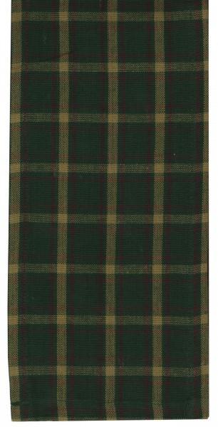Tea Towel Check Green