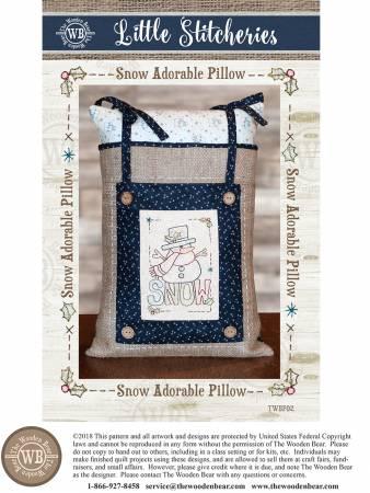 Little Stitcheries Snow Adorable Pillow