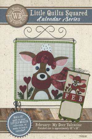 Little Quilts Squared February- My Deer Valentine Pattern
