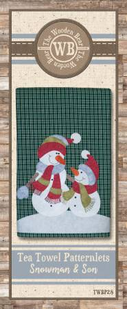 Pattern - Snowman & Son Tea Towel Patternlet