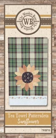 Tea Towel Patternlets Sunflower