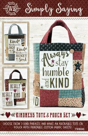 Simply Saying- Kindness Tote & Pouch Set