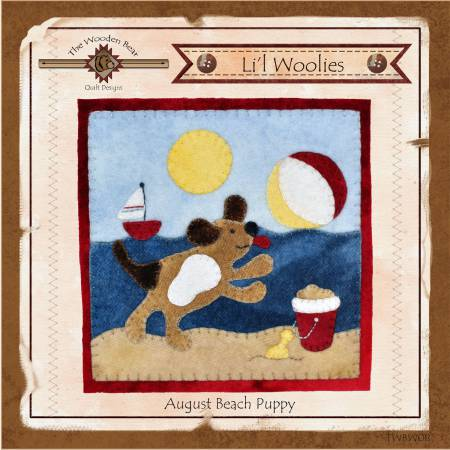 Lil Woolies Block Of the Month August Beach Puppy