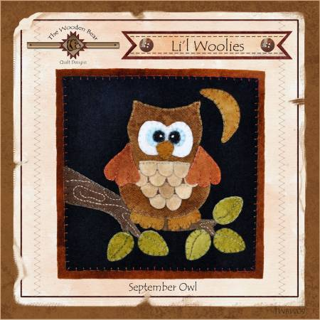 Lil Woolies Block Of the Month September Owl