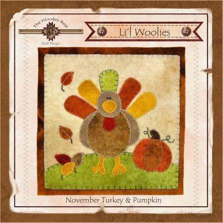 Lil Woolies Block Of the Month November Turkey & Pumpkin Pattern