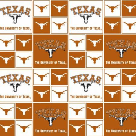 University of Texas Squares Licensed Fat Quarter