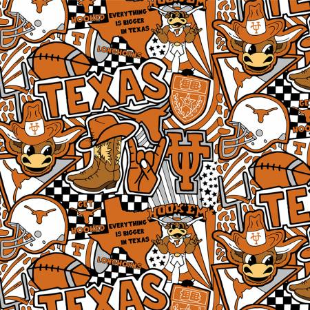 Texas Longhorns Cotton Digitally Printed TX-1165