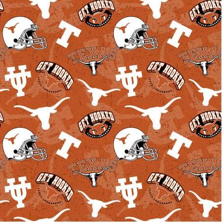 NCAA Texas Tone on Tone Cotton