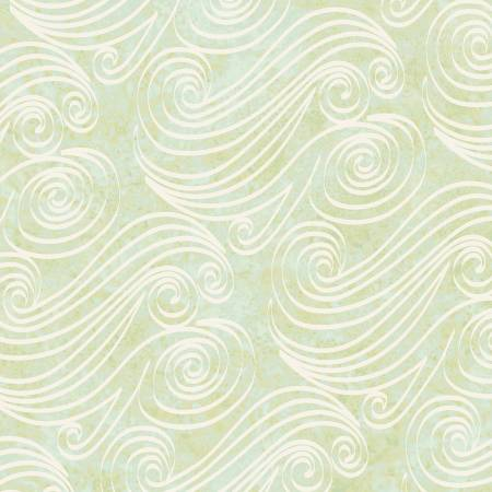 Marcus Innuendo Olive Blue Swirl Batik