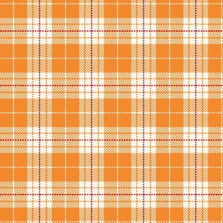 Primo Plaid Yarn Dyed Flannel - Orange/White