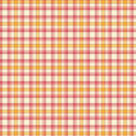 Primo Plaid Yarn Dyed Flannel - Orange/Yellow